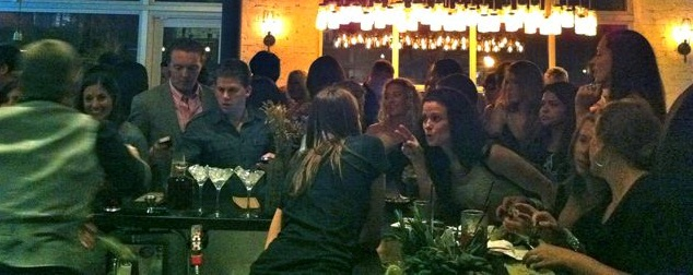 women at the bar